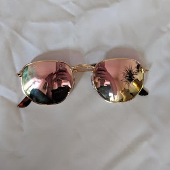 feeb54549e7b Rayban 3548N Pink Mirror Hexagon Sunglasses. M 5bfdba4cc617771b464979ba.  Other Accessories ...